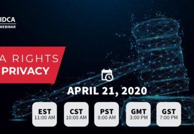 IDCA Webinars • Data Rights & Privacy & The COVID-19 Pandemic